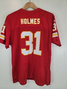 NFL Priest HOLMES Kansas City Chiefs #31 Reebok Authentic Red Jersey Youth XL
