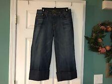 Women's DAVID KAHN 4987 GAUCHO Cropped Jeans Capri Pants Size 8