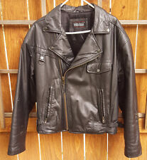 Mirage Leather Biker Jacket-Woman-40-Black-Zipper-Snap Buttons-Pockets