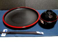 Japanese dish MISO Soup Bowl  chopstick chopsticks rest SET  For Sushi WASHOKU