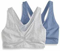 Hanes Women's Comfort-Blend Flex Fit Pullover Bra (Pack of, Grey, Size Large