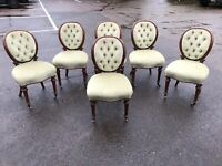 Victorian Set Of Balloon Back Dining Chairs