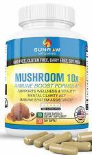 Mushroom Lions Mane Shiitake Reishi Miatake Turkey Tail  Immune Boost Formula