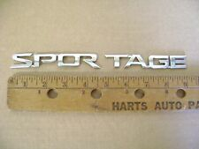 SPORTAGE chrome plastic emblem badge name plate KIA limited