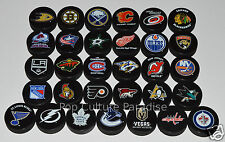 "HOCKEY PUCKS ALL 31 NHL TEAMS Complete Set ""Basic"" Logo Puck Lot w/LAS VEGAS"