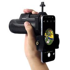 8x32 Handheld Waterproof Monocular+Telescope Cell Phone Mount Adapter for Travel