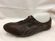 PUMA Womens 8 Med Brown Running Shoes Athletic Sneaker Suede Leather 352153  01 c425b3b35