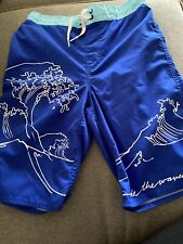 Boys Old Navy Swim Trunks Size 14/16 Blue