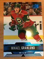 UPPER DECK 2017-2018 BLUE OVERTIME WAVE MIKAEL GRANLUND HOCKEY CARD #9