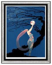 $12,000 Large ERTE Original SIGNED SERIGRAPH Color FIREFLIES Art Deco gouache