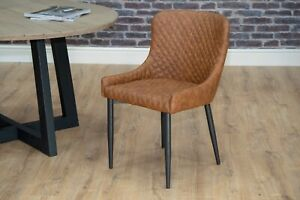Shoreditch Industrial Kitchen Breakfast Bar Stools & Dining Chairs PU Leather