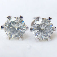 Jewelry Gift 1 CTW Round Simulated Moissanite Stud Earrings 14k White Gold Over