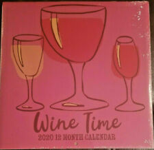 """2020 Wine Time 12 Month Wall Calendar 11"""" X 22"""" LOWER PRICE"""