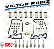 Valve Cover Gaskets + Plug Tube Seal + BOSCH Platinum Spark plugs for BMW