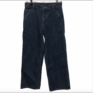 New CARHARTT Boy's Size 10 Original Fit Dark Denim Dungarees Carpenter Jeans