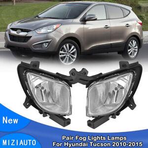 For 2010-2015 Hyundai Tucson Pair Fog Light Driving Lamp Clear Lens Left & Right