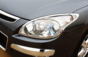 Chrome Front Head Light Lamp Surrounding Garnish Trim for Hyundai i30 2007-11 FD