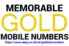 EASY MEMORABLE GOLD MOBILE PHONE NUMBER PAY AS YOU GO SIM CARD