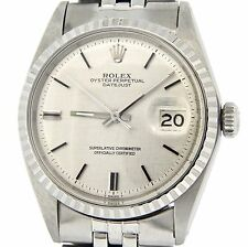 Rolex Datejust Mens Stainless Steel Watch w/ Silver Linen Dial Jubilee Band 1603