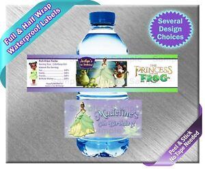 The Princess and the Frog Tiana Water Bottle Labels ~ Birthday Party Baby Shower