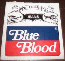 "Adesivi Anni ' 80 "" BLUE BLOOD JEANS  """