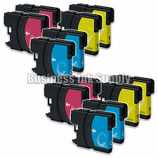 12 COLOR New LC61 Ink Cartridge for Brother MFC-495CW MFC-J410W MFC-295CN LC61