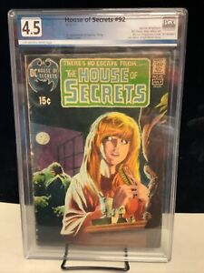 house of secrets 92  graded 4.5       First Swamp Thing