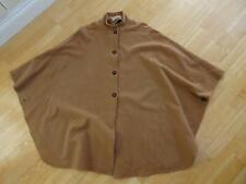 JACQUES VERT ladies brown wool cashmere autumn cape poncho jacket coat 12 14 16