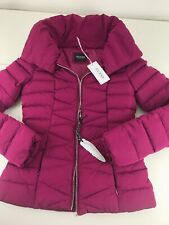 NWT Pink Guess Los Angeles Women's Down Puffer Jacket Coat Extra Small XS