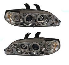 Head Light 92-95 Set Projector 1 Piece Coupe/Hatchback Chrome/Blue Civic