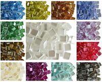 CHOOSE COLOR! 40pcs 6x6x3.2mm 2-hole Tile Pearl Beads Flat Square Czech Glass