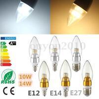 E12 E14 10W 14W 2835 LED SMD Dimmable Chandelier Light Bulb Warm/White 110V/220V