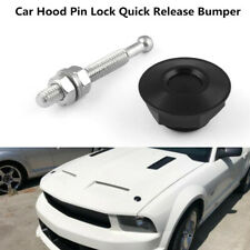 Aluminium Alloy Latch Push Button Car Hood Pin Lock Quick Release Bumper Black
