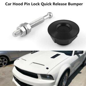 Aluminium Alloy Latch Push Button Car Hood Pin Lock Quick Release Bumper Black