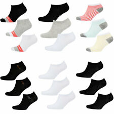 Tokyo Laundry Women's 3 Pack Assorted Trainer Socks Liners Ankle Cotton Blend
