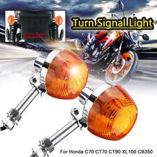 Motorcycle Turn Signal Indicator Light For Honda C70 CT70 CT90 XL100 CB350 CM400