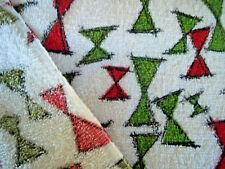 Vintage mid century modern abstract rare terry cloth cotton fabric yardage!