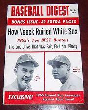 Baseball Digest September 1965 Joe Morgan / Pete Ward