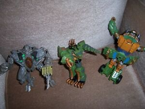 """ACTION FIGURES ( 2 )  AND (1 ) TRANSFORMER LOT 6 """" - 7 """" PRE OWNED"""