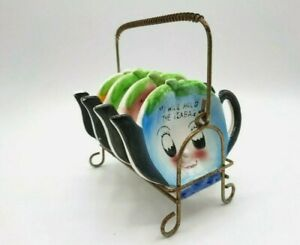 Davar Anthropomorphic Teapots Teabag Holder Coasters Caddy Lemon Apple Blueberry