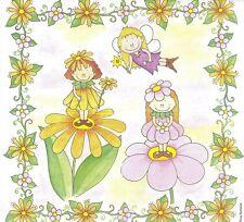 2 Serviettes en papier Vielseidig Fée fleurs - Paper Napkins Flower Fairy