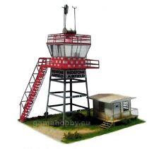 Airfield control tower, laser-cut cardboard model kit 1:48