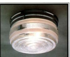 NEW Drum CHROME Vintage GLASS Retro CEILING LIGHT FIXTURE 6