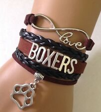 Love Boxer Infinity Charm Bracelet Dog Mom Paw Boxers FAST SHIP  QUALITY USA