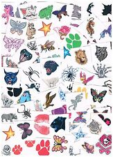 25 x Assorted Kids Temporary Tattoos -  Great Quality - fun for kids & adults