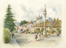 Art Print by Dick Sturgeon, Signed Watercolour L/E Print of Martock, Somerset