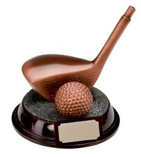 Resin Bronze Golf Driver Club Trophies Awards 130mm high FREE Engraving