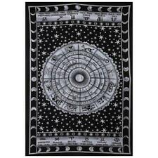 Black and White Zodiac Sign Celestial Tapestry Wall Decor Astrological Sun Moon