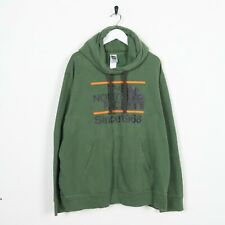Vintage THE NORTH FACE Big Logo Hoodie Sweatshirt Green XL