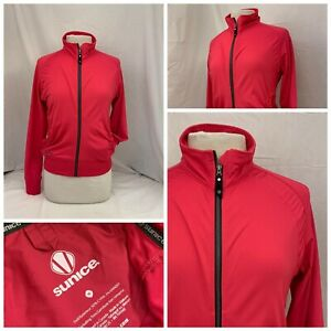 Sunice Golf Jacket M Pink Full Zip Cypan Blend Pockets Long Sleeve YGI S0-36